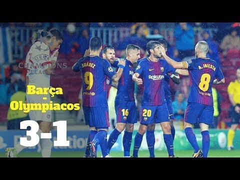 Champions League: Barça-Olympiakos, 3-1
