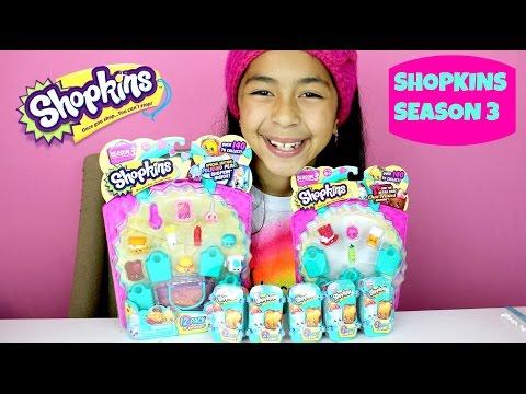 NEW Shopkins Season 3 Huge Unboxing 2 Pack Baskets 12 Pack| B2cutecupcakes