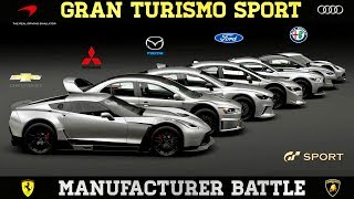 GT Sport - Manufacturer Shootout (Which is best)