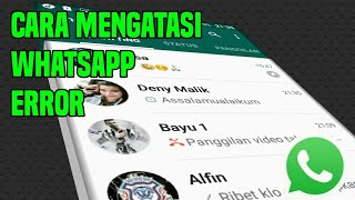 Cara mengatasi WhatsApp error tidak bisa ngirim pesan
