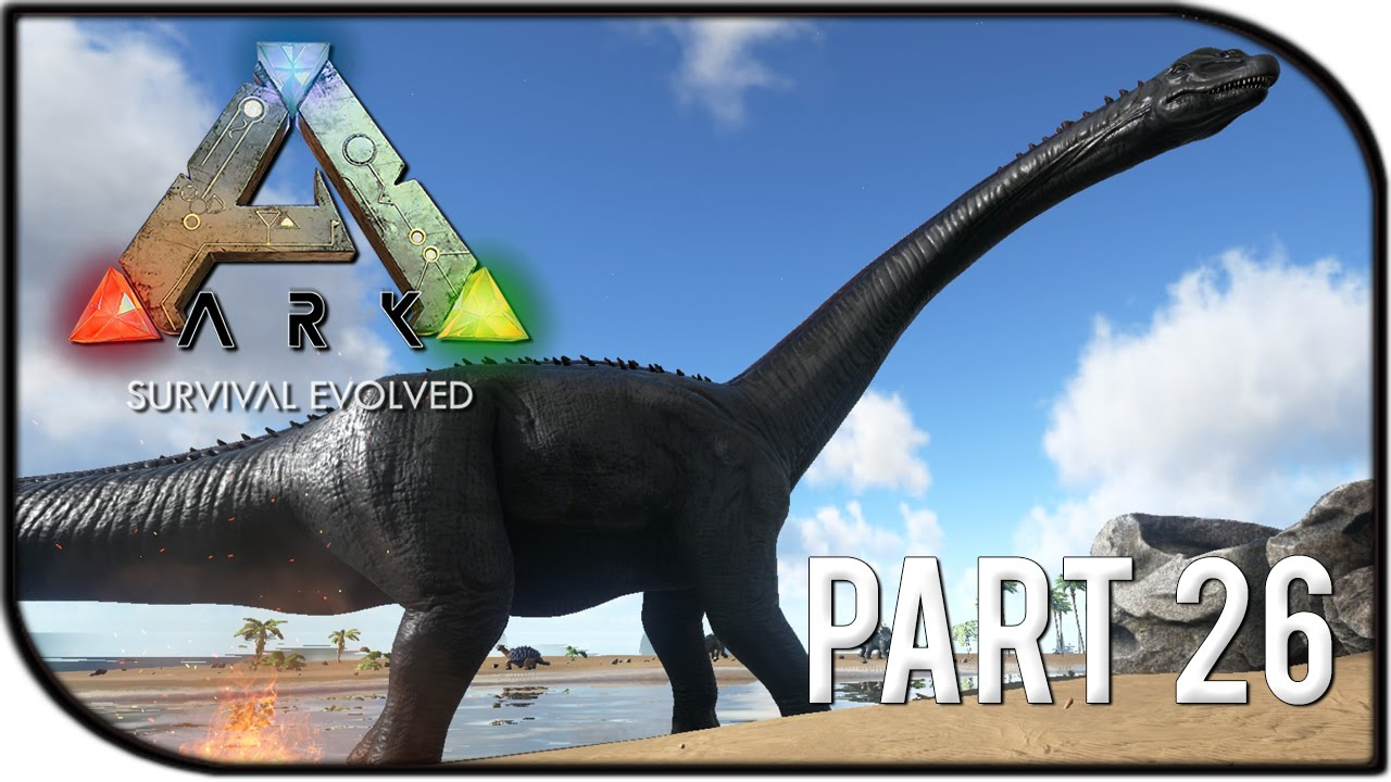 ark survival evolved gameplay part 26 brontosaurus bronto taming