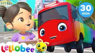 10 Little Buses! | @Lellobee City Farm - Cartoons & Kids Songs | ABC 123 | Fun Cartoons & Rhymes