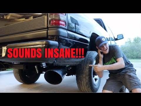 I BOUGHT THE BIGGEST EXHAUST TIP I COULD FIND FOR MY CUMMINS!!!!