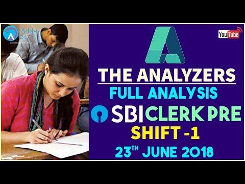 The Analyzer | SBI CLERK PRE | SHIFT 1 | Full Analysis