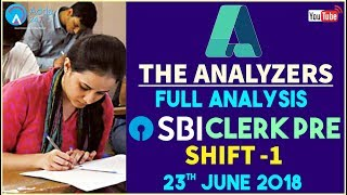 The Analyzer | SBI CLERK PRE | SHIFT 1 | Full Analysis
