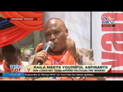 ODM leader Raila Odinga meets young aspiring politicians