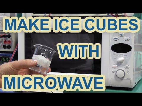 DIY : How to make ICE CUBES with a microwave oven (not a fake)