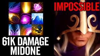 MidOne Impossible Combo Super Fast! 61k Damage Pro Invoker 7.00 Gameplay Dota 2