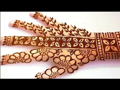 Full Back Hand  Dulhan Mehndi Designs 2021 / Very Simple Attractive Bridal Mehndi Design