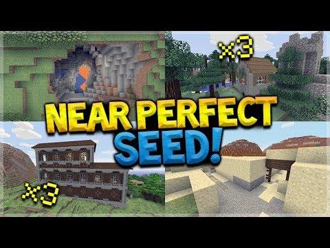 3 Woodland Mansion, 3 Villages, Jungle Temple HUGE Ravines 80% ALL Biomes! Minecraft SEED!