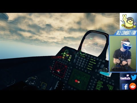 Let's Play Ace Combat 7 in VR   Mission #3 with the F-22!