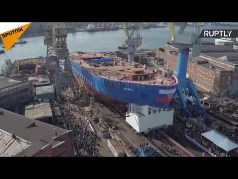 The Launch Of Siberia Icebreaker