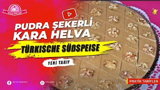 Pudra Şekerli Kara Helva Tarifi - Un Helvası - Türkische Süßspeise - Halva mit Puderzucker