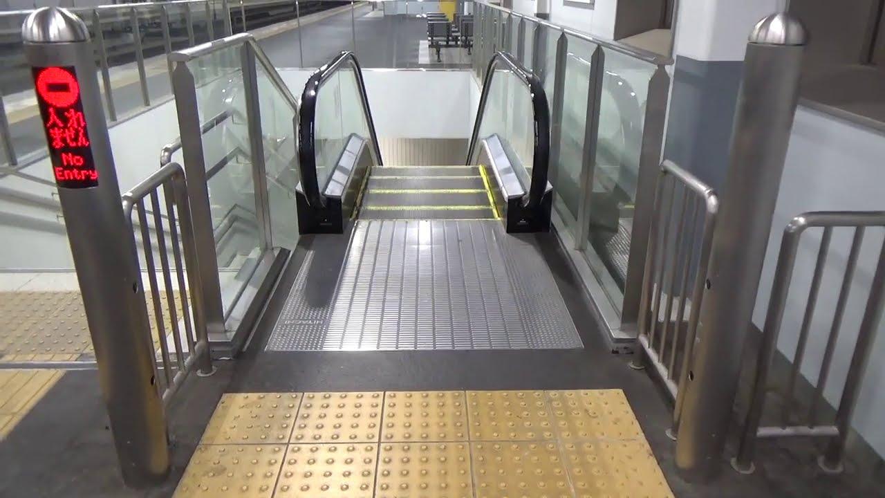 【日立製,HITACHI】近鉄河内花園駅のエスカレーターその2【逆走防止ブザー】