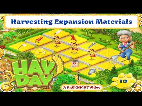 Hay Day - Harvesting Expansion Materials with Wheat.