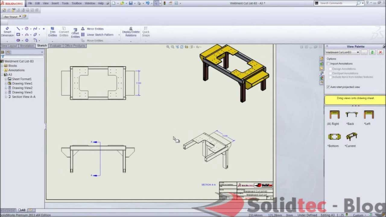 Creating Isometric Section Views In SolidWorks 2013