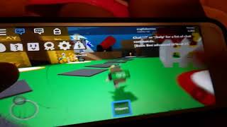 My little sister playing Roblox