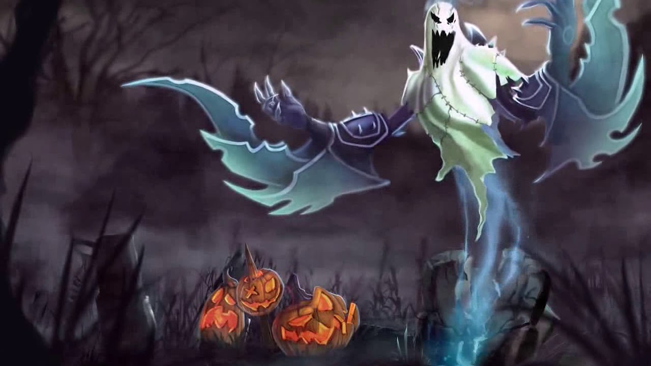 Wallpaper Engine League Of Legends Nocturne Halloween Youtube