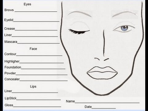photo about Printable Face Charts named Make-up Confront Charts Cost-free