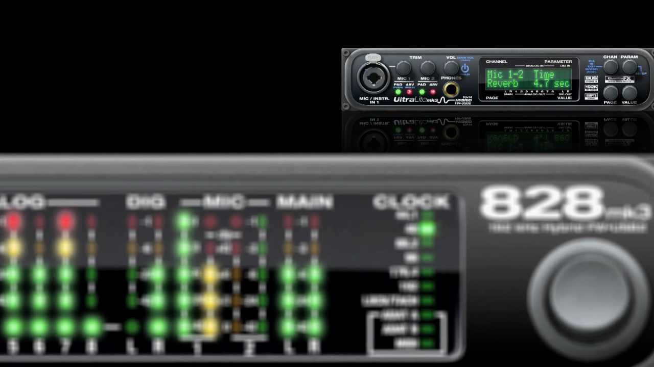 Motu 828mk3 firewire audio interface power and firewire cables.