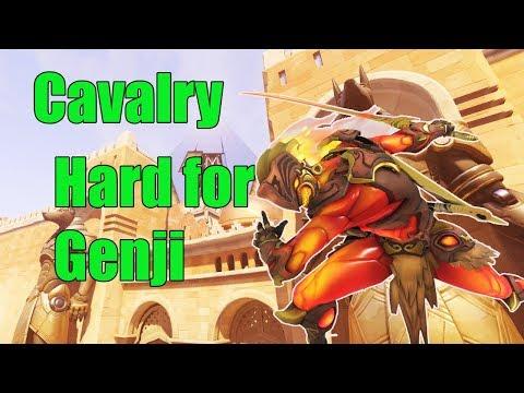 Genji Gameplay - Cavalry Pro Genji - Overwatch Season  14 thumbnail