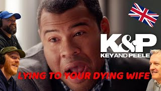 Key & Peele - Lying to Your Dying Wife REACTION!!   OFFICE BLOKES REACT!!