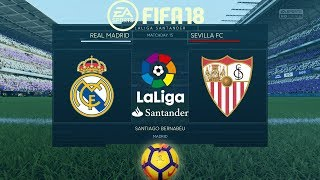 FIFA 18 Real Madrid vs Sevilla  La Liga 201718  PS4 Full Match