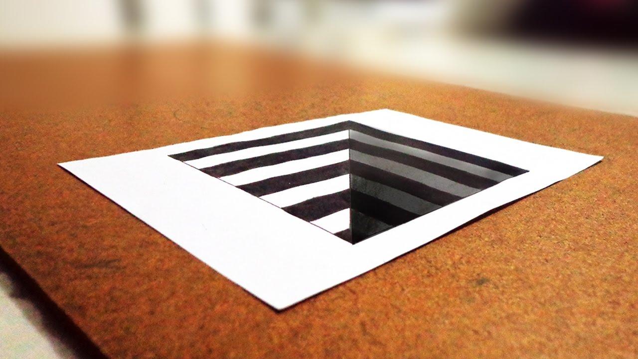 Vamos Desenhar Buraco 3d Tridimensional Ilusao De Otica 3