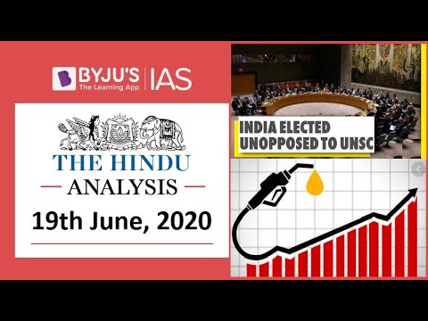 'The Hindu' Analysis for 19th June, 2020. (Current Affairs for UPSC/IAS)