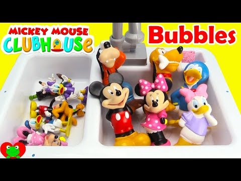 Disney Jr. Mickey Mouse Club House Friends Bubble Bath LEARN Opposites and Matching