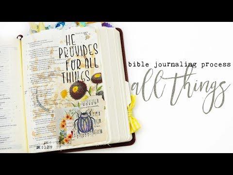Bible Journaling Process | Shimmery Bugs!
