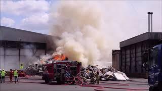 Grote Brand Bij Afvalverwerker In Westpoort Amsterdam.