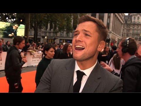 Taron Egerton Sets Leicester Sq Alight for Kingsman Premiere