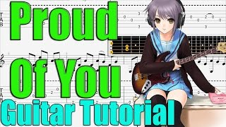 Proud Of You Guitar Tutorial - Easy Guitar Songs for Beginners - How To Play Guitar Songs