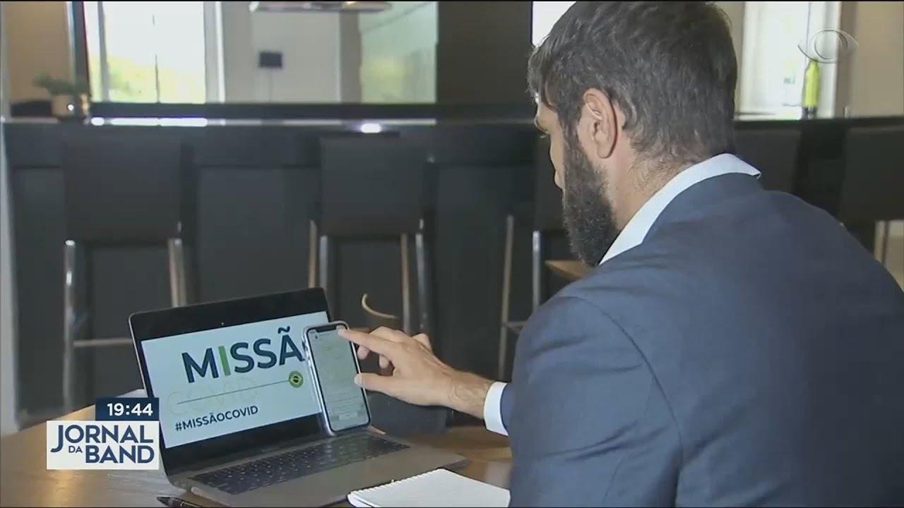 Missão Covid foi destaque no Jornal da Band