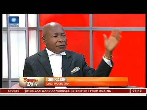 NGOs Should Be Allowed To Regulate Themselves - Lawyer Pt.1  Sunrise Daily 