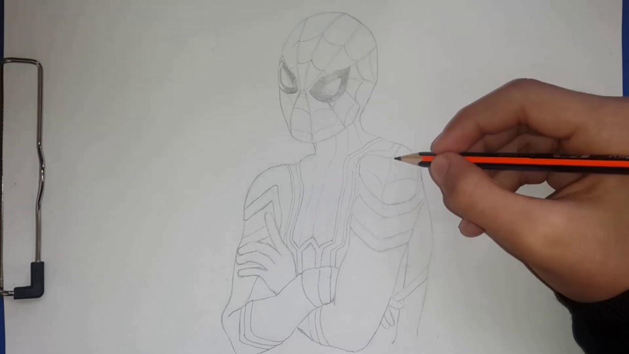 Spiderman Drawing Spiderman Karakalem çizimi Youtube