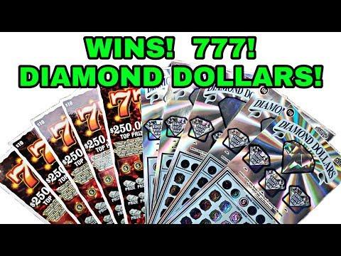 WINS! 777! DIAMOND DOLLARS!  Texas Lottery Scratch Off Tickets