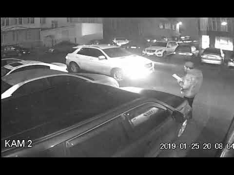 Видео с камеры видеонаблюдения с места ДТП