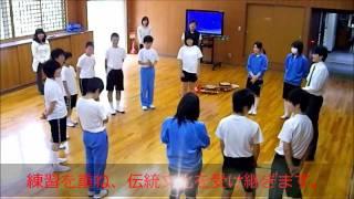 国際科 「神楽の練習」 上北山中学校 平成23年5月