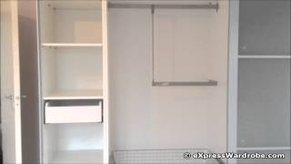 IKEA Pax Lyngdal Sliding Door Wardrobe Design with Interior Fittings & Soft Close System