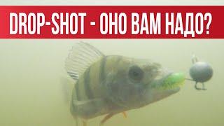 DROP-SHOT- Подробный обзор. Подводные съемки. Практика на водоёме | Рыбалка с Fishingsib