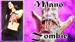 como hacer una mano zombie (facil)