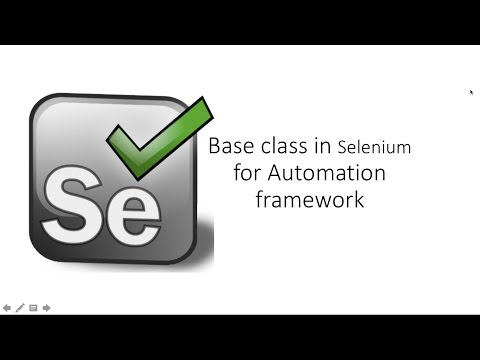 How to Create Base Class in Selenium Webdriver
