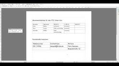 Tutorial Tabellen erstellen und bearbeiten in Open Office