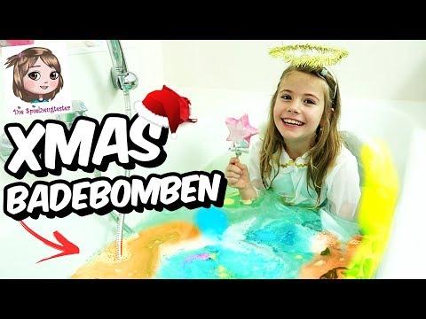 LUSH BADEBOMBEN CHALLENGE ZU WEIHNACHTEN 🎅🏼 Der Weihnachtsmann und ein Engel in der Badewanne