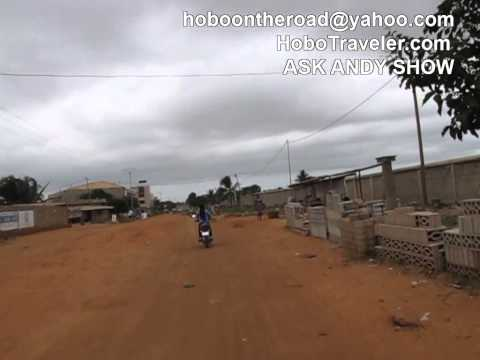 The Crazy Entry to Lome Togo on Motorcycles
