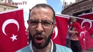 من الجزائر الشقيق جاء يعبر عن فرحته بدحر الانقلاب