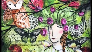 Napkin Mixed Media Art Journal