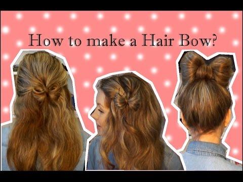 Как сделать красивый бант из волос ♥ 3 прически с бантами из волос ♥ Hair Bow tutorial